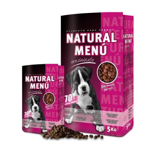 Natural Menú Pienso Semi húmedo Cachorro