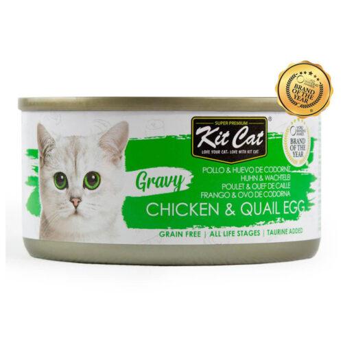 Kit Cat Pollo y Huevos de Codorniz