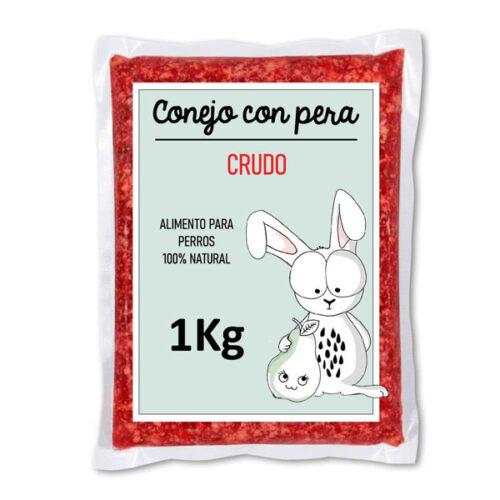 Barf Conejo con Pera Crudo
