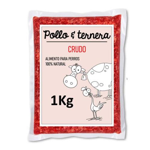 Barf Pollo y Ternera Crudo